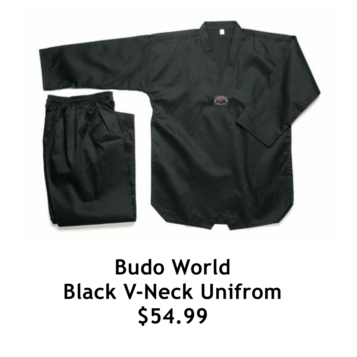 Black V-Neck Uniform $54.99
